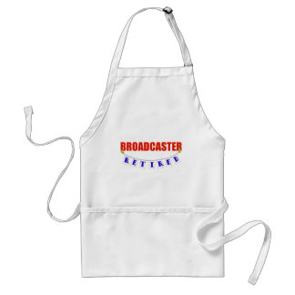 RETIRED BROADCASTER ADULT APRON
