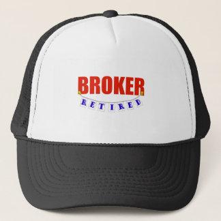 RETIRED BROKER TRUCKER HAT