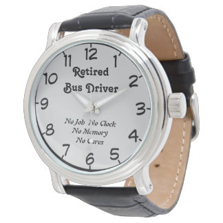 Retired Bus Driver Wristwatches