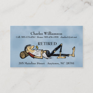 Retired Business Cards Zazzle