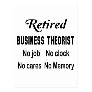 Retired Business theorist , No job No clock No car Postcard