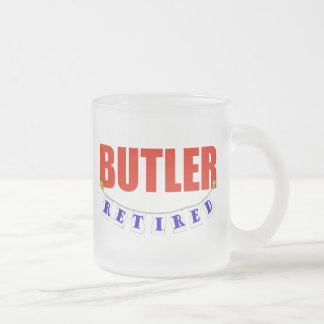 Retired Butler Frosted Glass Coffee Mug