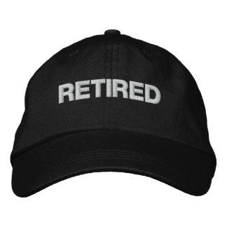 Retired cap embroidered baseball cap