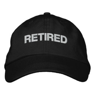 Retired cap embroidered hats