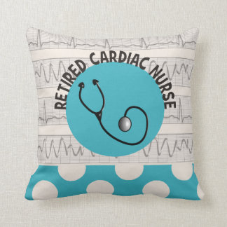 Retired Cardiac Nurse Throw Pillow