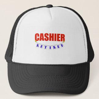 RETIRED CASHIER TRUCKER HAT