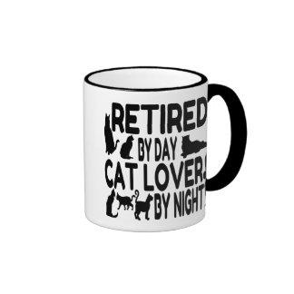 Retired Cat Lover Ringer Coffee Mug