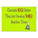 Retired Chemist Gifts Greeting Card
