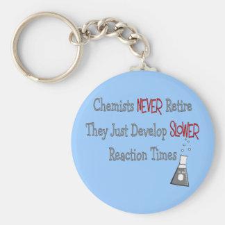 Retired Chemist Gifts Keychain