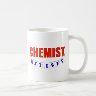 RETIRED CHEMIST CLASSIC WHITE COFFEE MUG