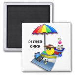 Retired Chick 2 Inch Square Magnet