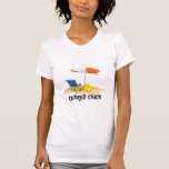 Retired Chick--Beach Scene Tshirts