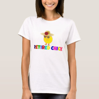 Retired Chick, colorful design T-Shirt
