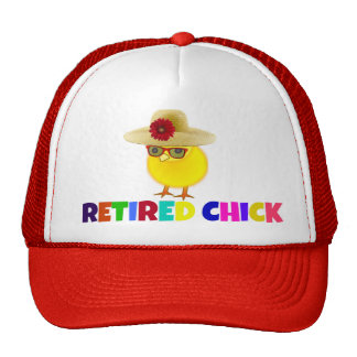 Retired Chick, colorful design Trucker Hat