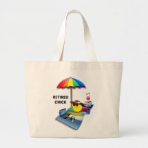 Retired Chick Large Tote Bag