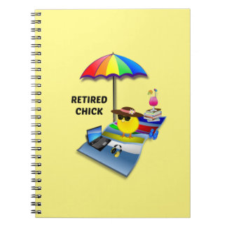 Retired Chick--She's So Cute Notebook
