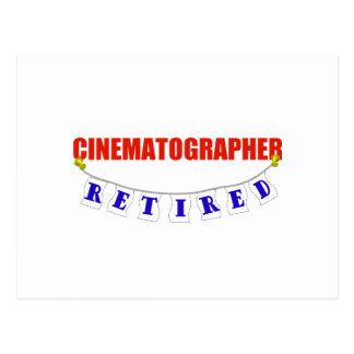 RETIRED CINEMATOGRAPHER POSTCARD