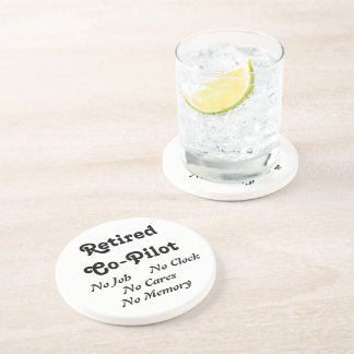 Retired Co-Pilot Drink Coaster