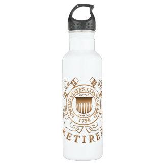 Retired Coast Guard 24oz Water Bottle