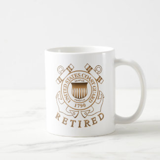 Retired Coast Guard Classic White Coffee Mug