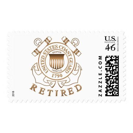 Retired Coast Guard Postage Stamp