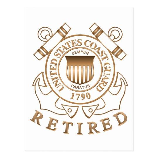 Retired Coast Guard Postcard