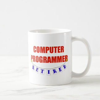 RETIRED COMPUTER PROGRAMMER CLASSIC WHITE COFFEE MUG