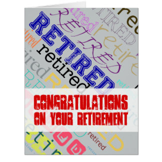 Retired Congratulations on Retirement Big Card 1