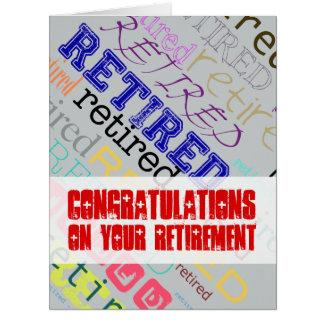 Retired Congratulations on Retirement Big Card 1