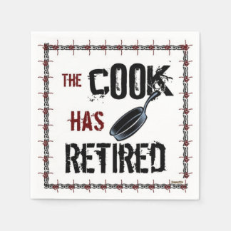 Retired Cook Paper Napkin