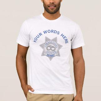Retired Corrections Officer Badge Custom T-Shirt