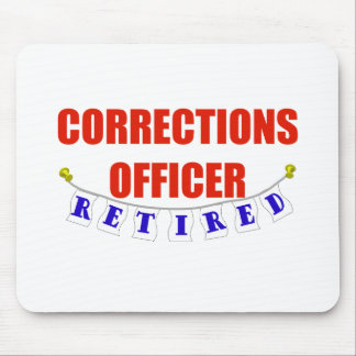RETIRED CORRECTIONS OFFICER MOUSE PAD