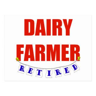 RETIRED DAIRY FARMER POSTCARD