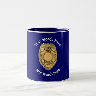 Retired Deputy Chief of Police Shield Mug