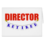 Retired Director Greeting Card