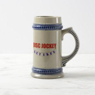 Retired Disc Jockey Beer Stein