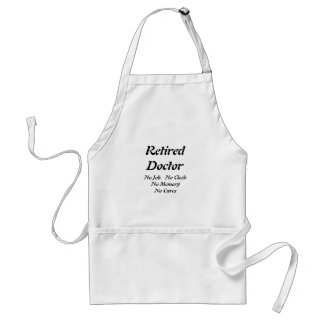 Retired Doctor Adult Apron