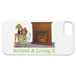 Retired Dog Lounging By The Fire iPhone SE/5/5s Case