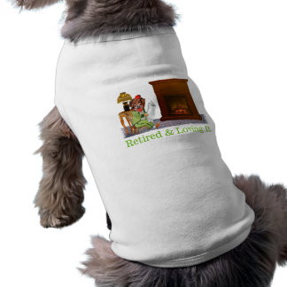 Retired Dog Lounging By The Fire T-Shirt