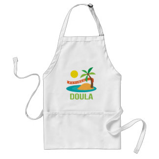 Retired Doula Gift Adult Apron