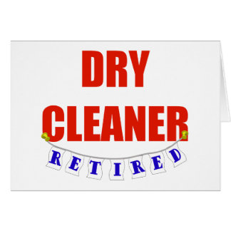 RETIRED DRY CLEANER CARD