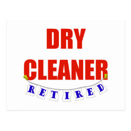 RETIRED DRY CLEANER POSTCARD
