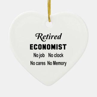 Retired Economist  No job No clock No cares Ceramic Ornament