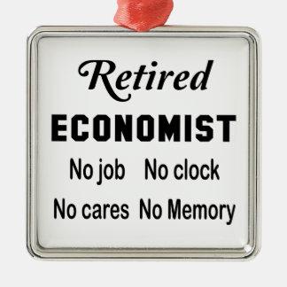 Retired Economist  No job No clock No cares Metal Ornament