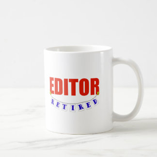 RETIRED EDITOR CLASSIC WHITE COFFEE MUG