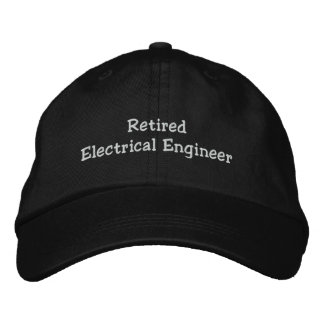 Retired Electrical Engineer Embroidered Baseball Caps