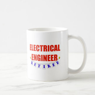 RETIRED ELECTRICAL ENGINEER CLASSIC WHITE COFFEE MUG
