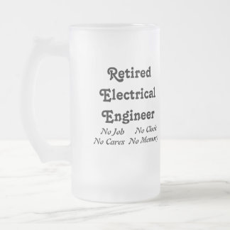 Retired Electrical Engineer 16 Oz Frosted Glass Beer Mug