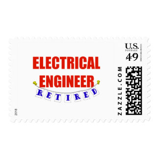 RETIRED ELECTRICAL ENGINEER POSTAGE STAMP