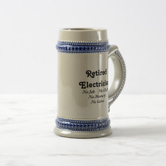 Retired Electrician Beer Stein
